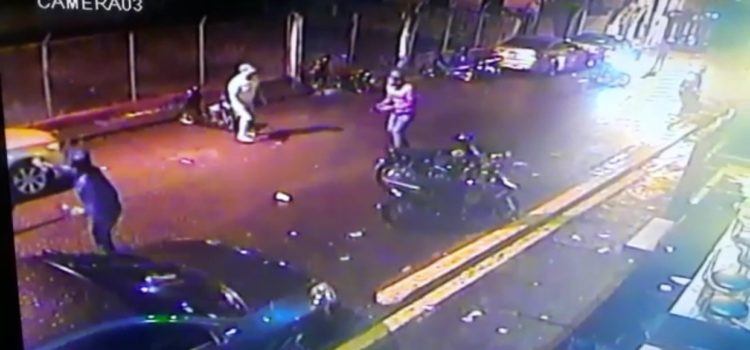 Captado en video momento asesinan joven en San Francisco de Macorís
