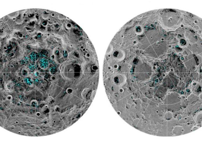 Confirman que hay agua helada en la Luna