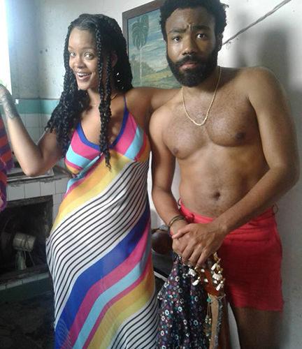 Rihanna filma en Cuba junto a Donald Glover (Gambino)