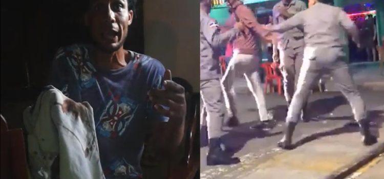 Habla el joven que recibió la golpes por parte de la Policía y esto fue lo que reveló.