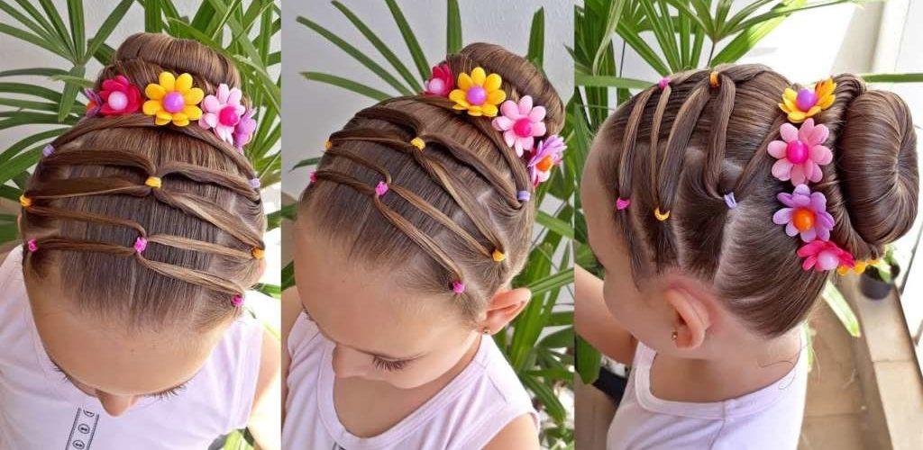 Preciosos peinados para niñas, ideales para fiestas y ocasiones especiales