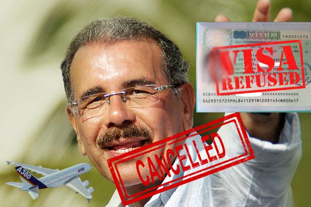 Estados Unidos le canceló el visado norteamericano al presidente Danilo Medina por corrupción