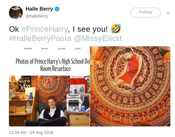 """El príncipe Harry tuvo como """"amor platónico"""" a la actriz Halle Berry. Al parecer las actrices le conquistan el corazón."""
