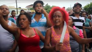 Casi lo pican picaito al supuesto matador de mujer en Villa Tapia