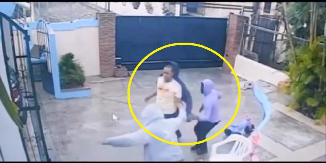 Captado en video como tres delincuentes asaltaron a una familia dentro de su casa y se robaron más de 700 mil pesos.