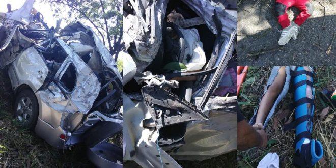 Photo of Pierden la vida abuelo y nieto en accidente. Otros dos nietos resultaron heridos.