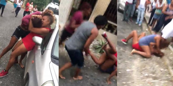 Captada en video una de las más brutales peleas de mujeres de los últimos tiempos.