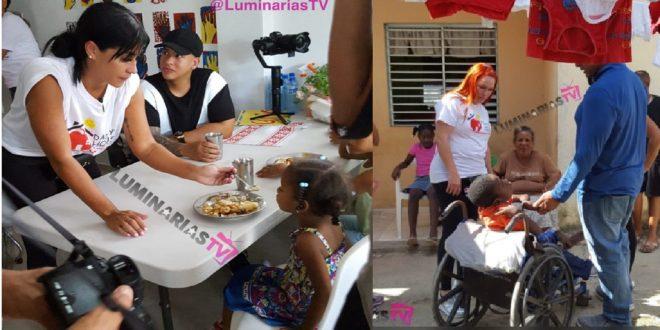 Daddy Yankee y su esposa Mireddys González visitan los niños en su fundación Daddys House en RD.