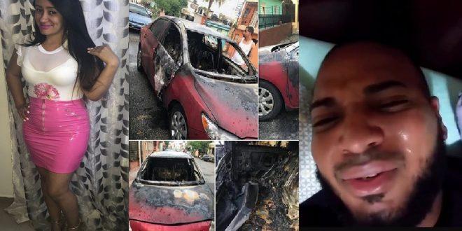 Photo of Después de encañonar y quemar el carro de su expareja, ahora graba video llorando y pidiendo cacao.
