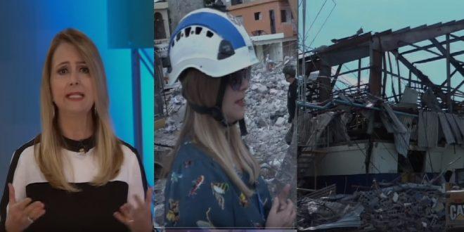 Photo of Nuria Piera llega al lugar de la explosión