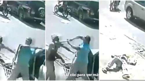 Photo of Momento en que chofer de ruta CJ golpea con Bate a un hombre.