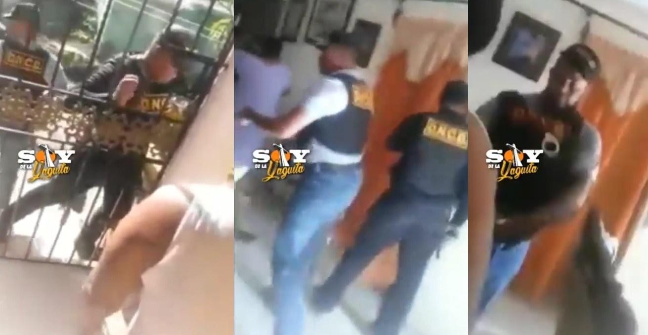 Photo of Agentes DNCD allanan casa sin orden de juez y sin fiscal, agreden mujeres que los graban