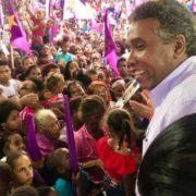 Félix Bautista dice Leonel acabará con la pobreza de barrio de San Juan cuando sea presidente