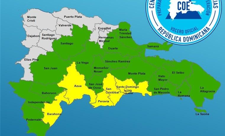 Photo of COE eleva a 23 las provincias en alerta por fuertes aguaceros