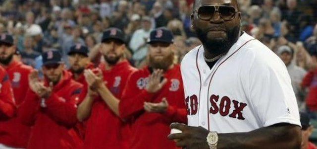 David Ortiz volvió a Boston e hizo el 1er lanzamiento