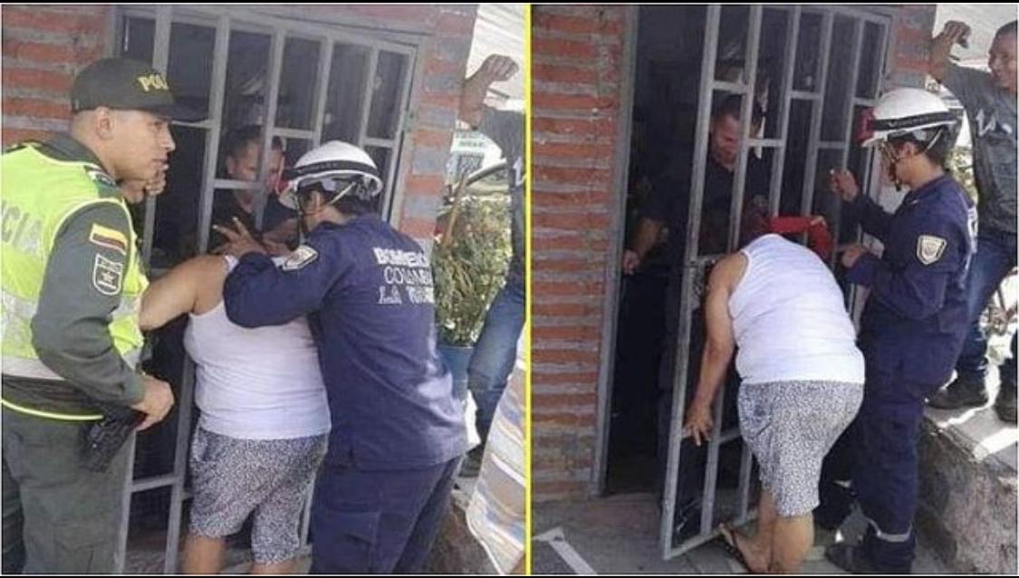 Photo of Mujer se quedó atrapada en una reja por querer chismear qué hacia su vecina