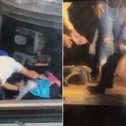 Video muestra rescate de niña, luego de que su padre se aventara con ella al Subway en El Bronx