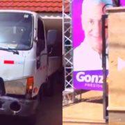 Graban infraganti camión de la JCE parqueado en el comando de campaña de Gonzalo Castillo en Dajabon en pleno conteo de votos manual