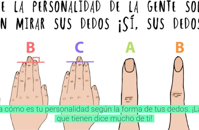¡Descubre la personalidad de la gente con tan solo mirar sus dedos!
