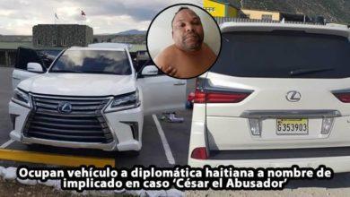 Photo of Ocupan vehículo a diplomática haitiana a nombre de implicado en caso 'César el Abusador'