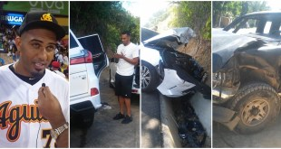 Photo of Pelotero Michael Ynoa sale ileso de accidente