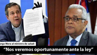 Photo of Jorge Mera a Sánchez Cárdenas: «Nos veremos oportunamente ante la ley»